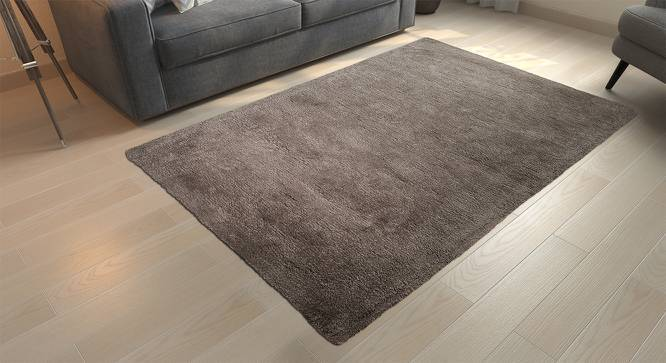 """Dartmoor Shaggy Rug (Grey, 72"""" x 48"""" Carpet Size) by Urban Ladder"""