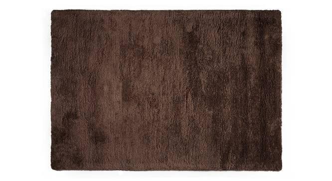 "Dartmoor Shaggy Rug (Dark Brown, 72"" x 48"" Carpet Size) by Urban Ladder"