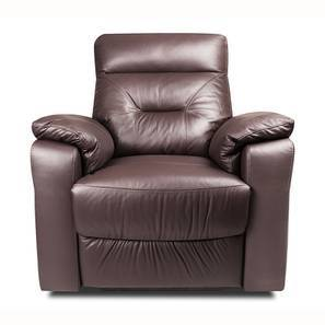 Calvin Motorized Leather Recliner (Chocolate Italian Leather) by Urban Ladder
