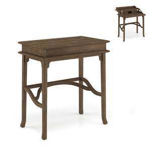 Louise Study Table (Vintage Brown Oak Finish)