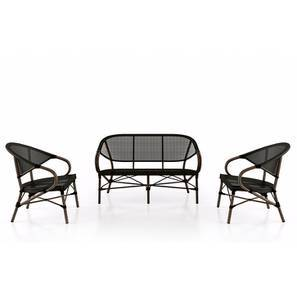 Cirali Two Seater and One Seater Set (Black) by Urban Ladder