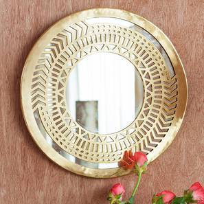 Zara Round Wall Mirror (Round Mirror Shape) by Urban Ladder