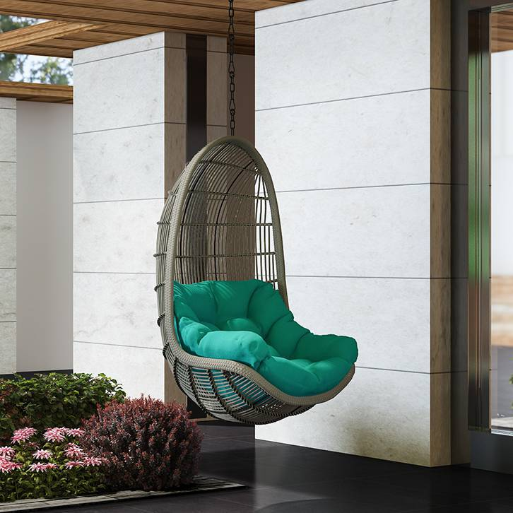 Piver Swing Chair With Long Chain (Teal)