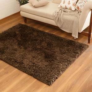 "Linton Shaggy Rug (Brown, 60"" x 36"" Carpet Size) by Urban Ladder"