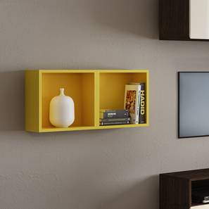 Henson Floating Shelf   Set Of 2 (Yellow Accent Colour) By Urban Ladder