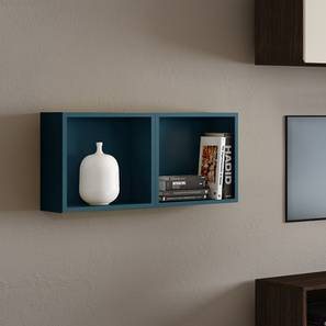 Henson Floating Shelf   Set Of 2 (Blue Accent Colour) By Urban Ladder