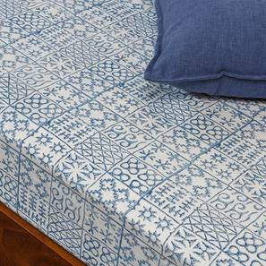 Aza Bedsheet (Indigo Blue, Single Size)