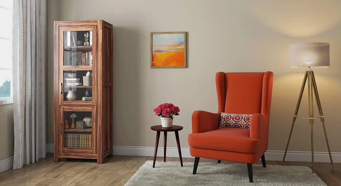 Murano Single-Door Display Cabinet (Teak Finish) by Urban Ladder