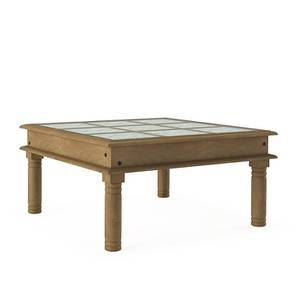 Annika Glass Top Coffee Table (Natural Finish)