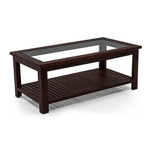 Claire Coffee Table (Mahogany Finish, Large Size) by Urban Ladder