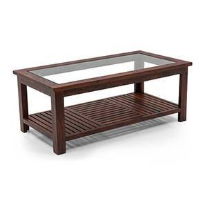 Claire Coffee Table (Teak Finish, Large Size) By Urban Ladder