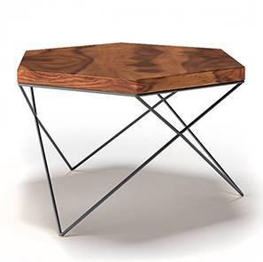 Dyson Hex Coffee Table (Teak Finish, Black)