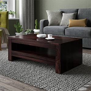 Epsilon Coffee Table (Mahogany Finish) by Urban Ladder