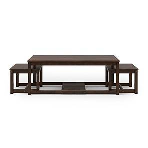 Hevea Nested Coffee Table (Dark Walnut Finish) by Urban Ladder