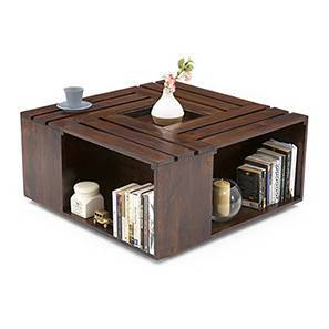 Penland Coffee Table (Walnut Finish, Without Cushion Configuration) By  Urban Ladder