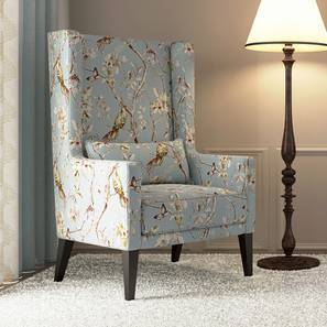 Morgen Wing Chair (Blue Nightingale) By Urban Ladder