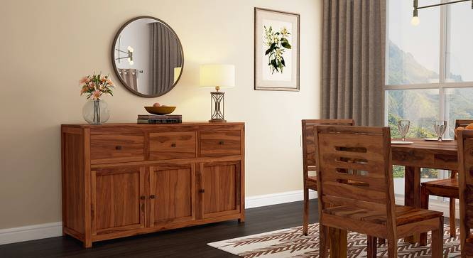 Striado Sideboard (Teak Finish) by Urban Ladder