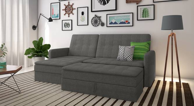 Attractive Peckham Sectional Sofa Cum Bed With Ottoman