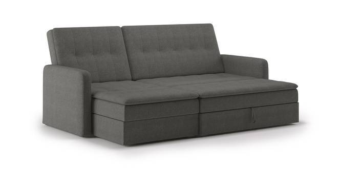 upholstered grey sofa fabric reversible brault sectional front en