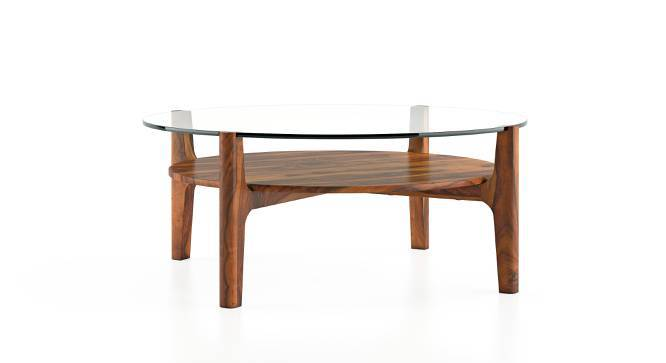 Cayman Coffee Table (Teak Finish, With Shelf) by Urban Ladder