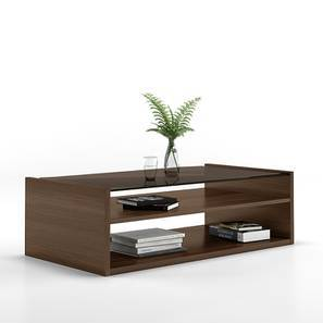 Alita Storage Coffee Table (Walnut Finish, Open Shelf Configuration) by Urban Ladder