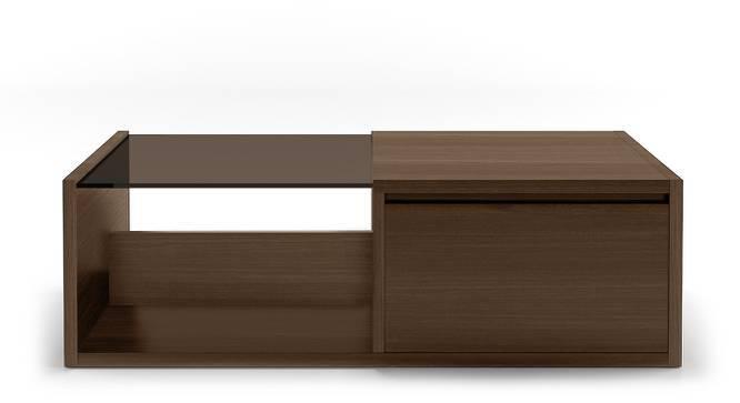 Alita Storage Coffee Table (Walnut Finish, Half Drawer Configuration) by Urban Ladder
