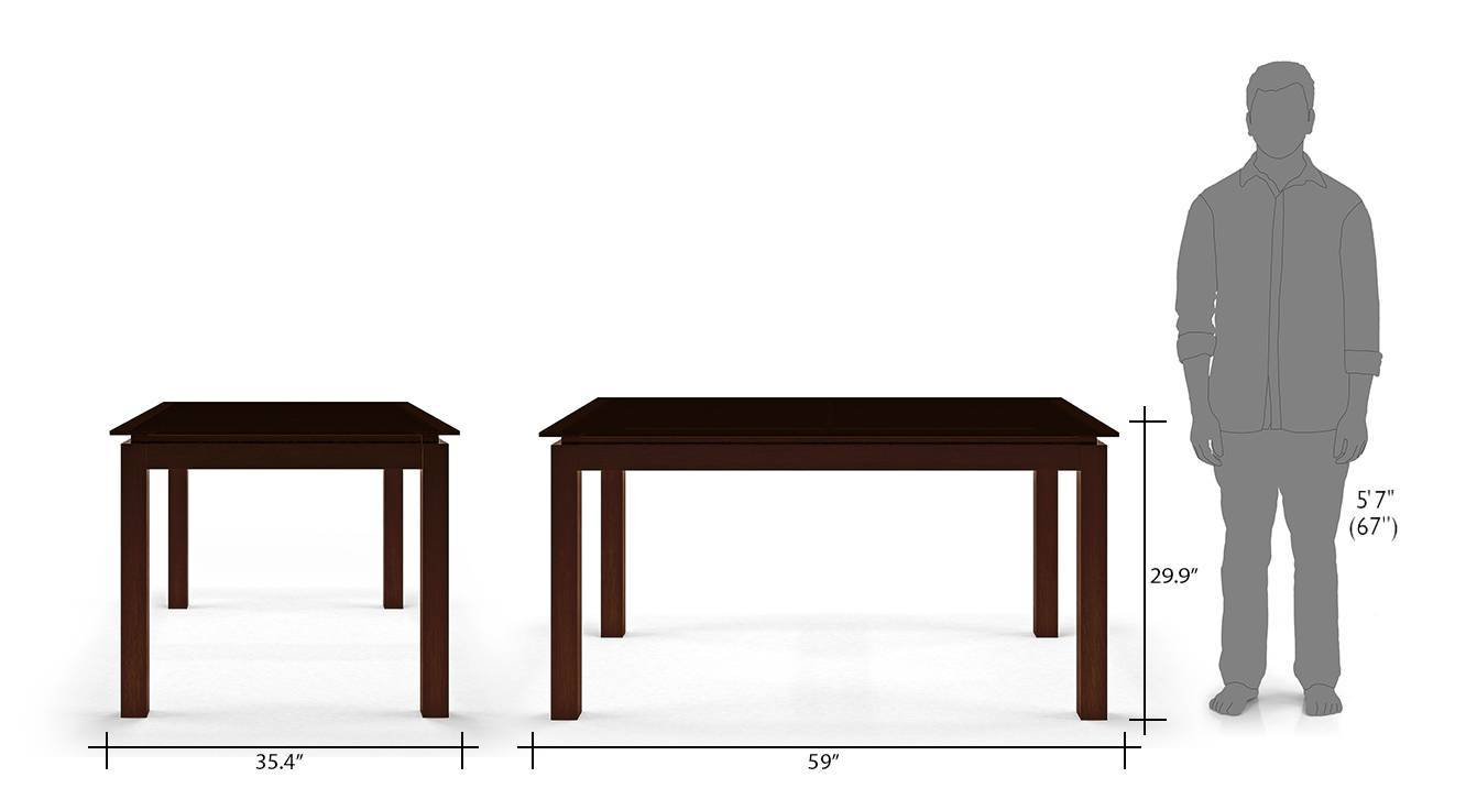 Diner 6 seater glass top dining table set with bench 16