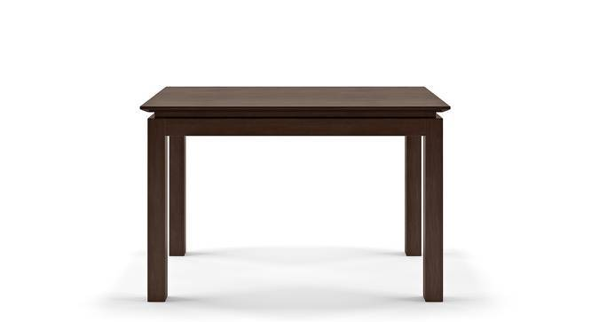 Diner - Cabalo (Fabric) 4 Seater Dining Table Set (Beige, Dark Walnut Finish) by Urban Ladder