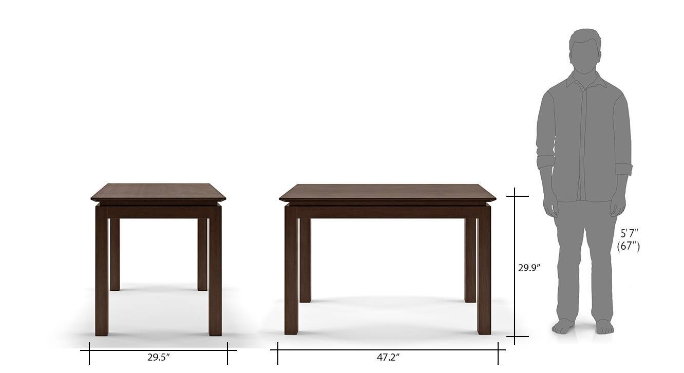 Diner cabalo fabric 4 seater dining table set 16