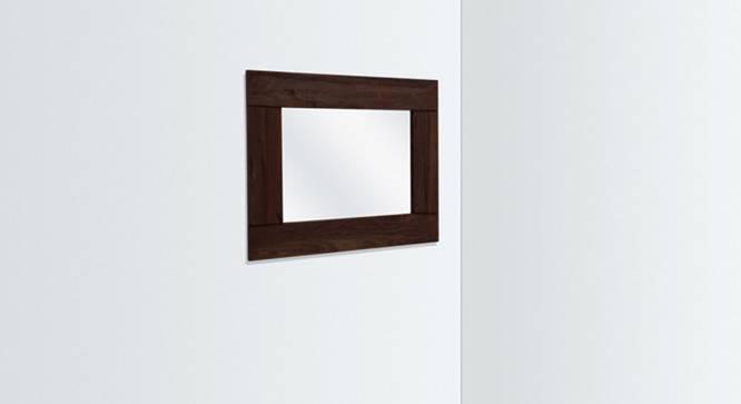 Venus Wall Mirror (Mahogany Finish, Square Mirror Shape) by Urban Ladder
