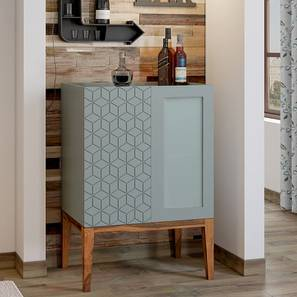 Adel Bar Cabinet (Teak Finish, Grey)