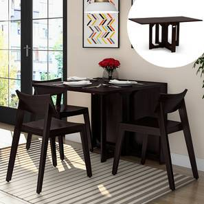 Danton 3 To 6 Folding Dining Table Mahogany Finish By Urban Ladder