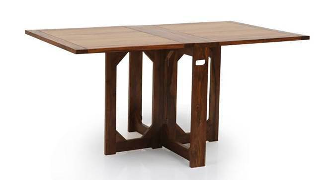 Danton 3 to 6 Folding Dining Table (Teak Finish) by Urban Ladder