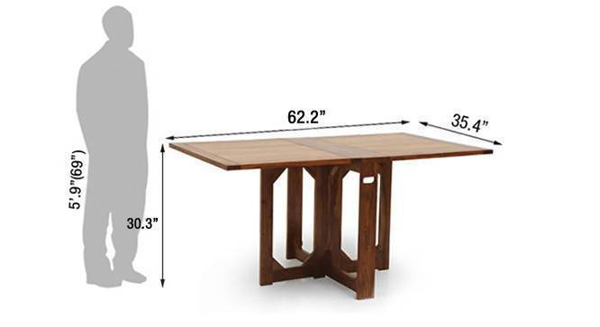Danton folding dining table teak 6