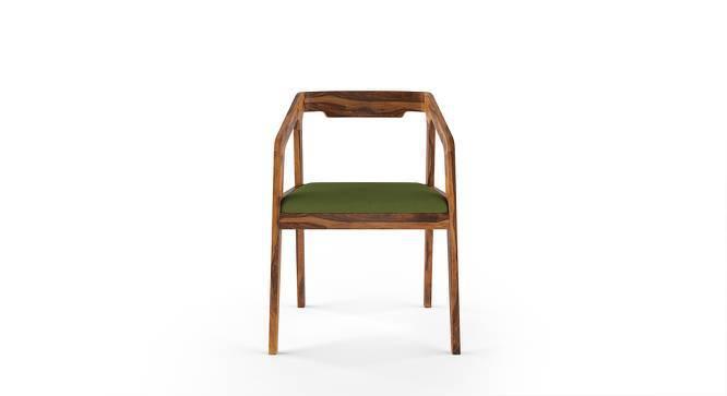 Alphonse Chair (Teak Finish, Avocado Green) by Urban Ladder