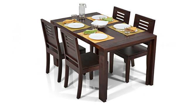 Capra Dining Chairs - Set of Two (Mahogany Finish, Yes) by Urban Ladder