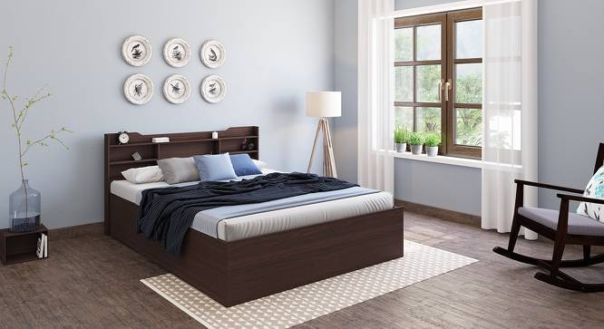 Norman Storage Bed (Walnut Finish, Queen Bed Size, Yes) by Urban Ladder