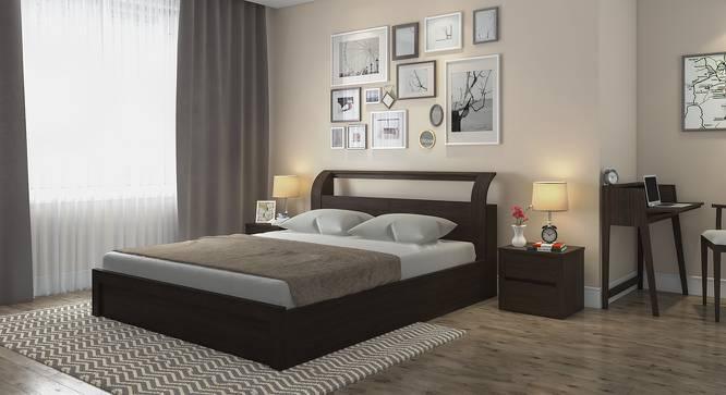 Sutherland Hydraulic Storage Bed (Queen Bed Size, Dark Walnut Finish, Yes) by Urban Ladder