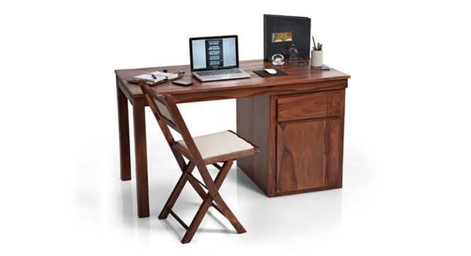 Bradbury Desk (Teak Finish, Large Size, Yes) by Urban Ladder