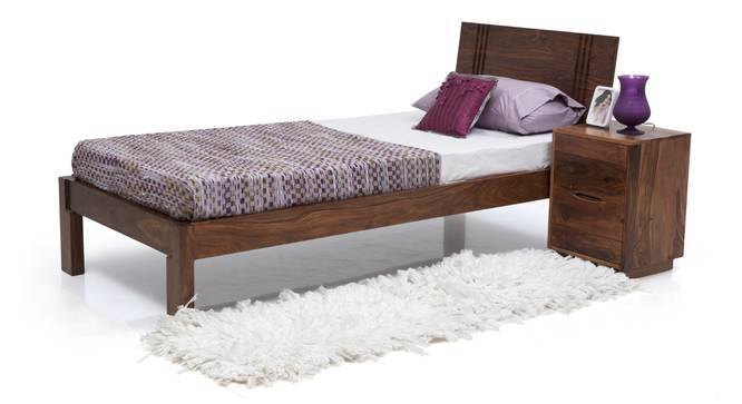 Yorktown Single Bed (Teak Finish, Without Trundle, Yes) by Urban Ladder
