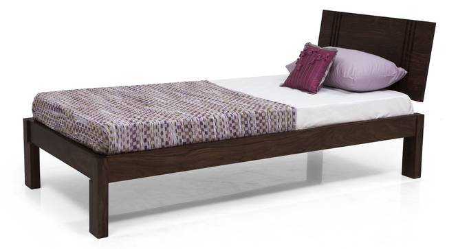 Yorktown Single Bed (Mahogany Finish, Without Trundle, Yes) by Urban Ladder