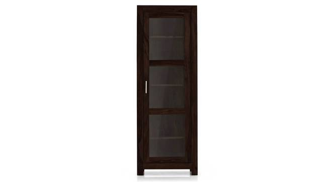 Murano Single-Door Display Cabinet (Mahogany Finish, Yes) by Urban Ladder
