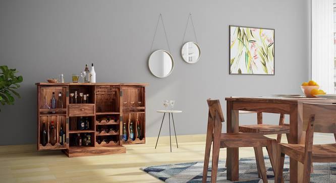 Caledonia Bar Cabinet (Teak Finish, Yes) by Urban Ladder