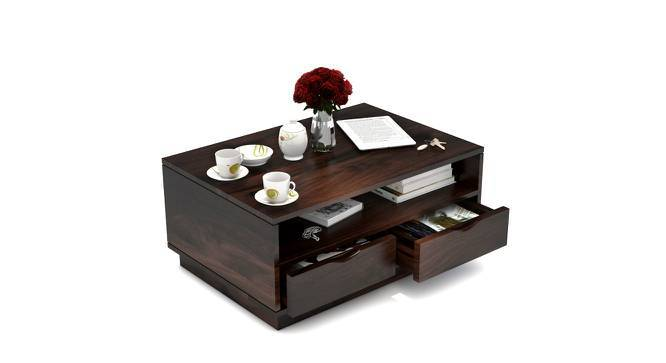 Zephyr Storage Coffee Table (Mahogany Finish, Yes) by Urban Ladder