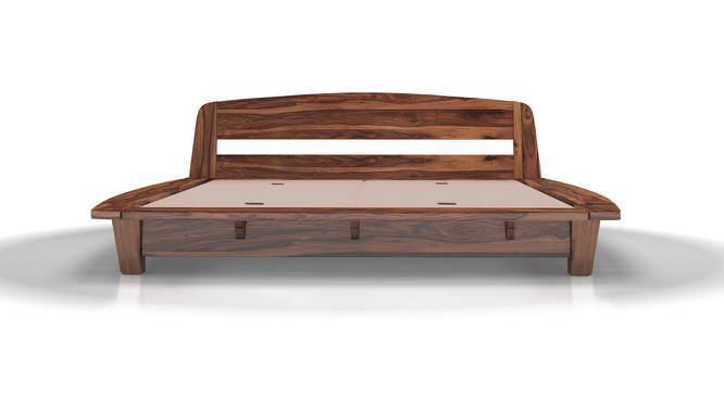 Tahiti Platform Bed (Teak Finish, Queen Bed Size, Yes) by Urban Ladder
