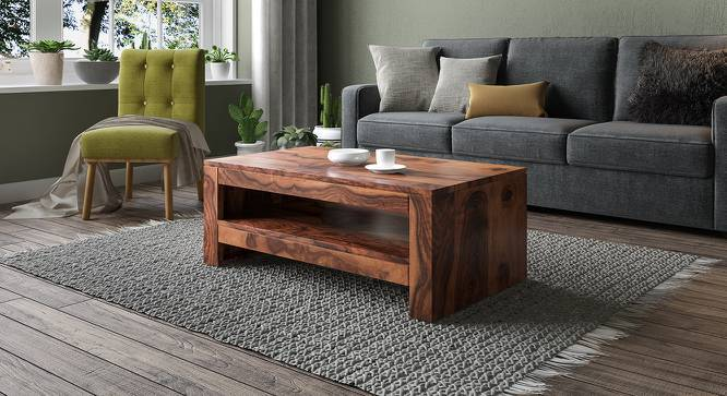 Epsilon Coffee Table (Teak Finish, Yes) by Urban Ladder