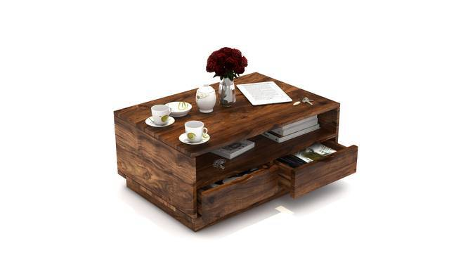 Zephyr Storage Coffee Table (Teak Finish, Yes) by Urban Ladder