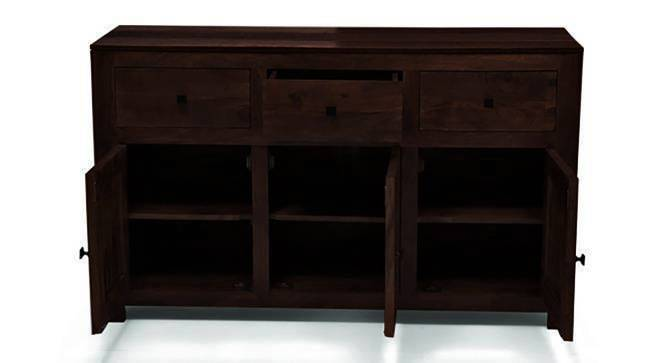 Striado Sideboard (Mahogany Finish, Yes) by Urban Ladder