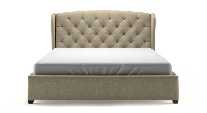 Holmebrook Upholstered Bed (King Bed Size, Mist Brown, Yes) by Urban Ladder