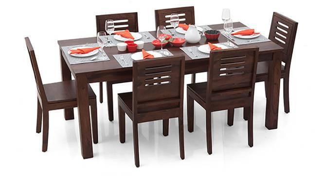 Arabia XL - Capra 6 Seater Dining Set (Mahogany Finish, Yes) by Urban Ladder
